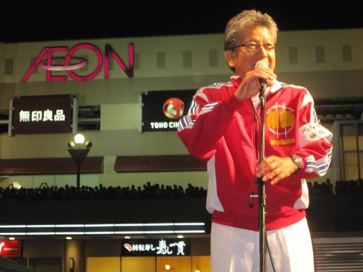 新居浜太鼓祭り。 そのスタートのときにご挨拶させていただいました。