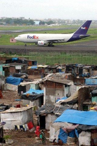 Slum in Mumbai...the dichotomy!