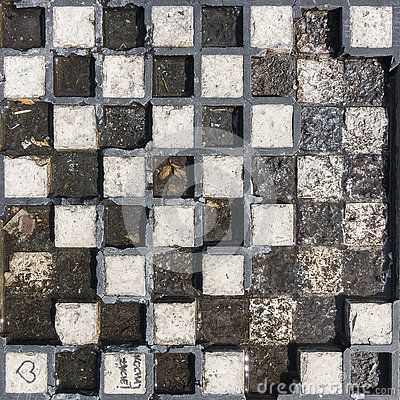 Old stone and marble Chessboard background outdoor in the park.