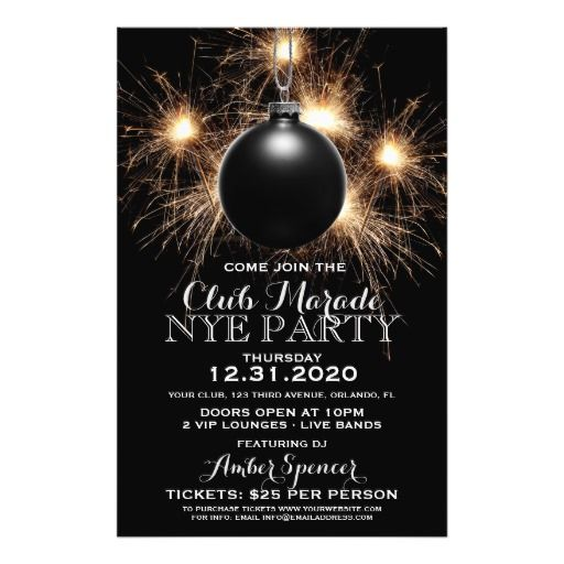 46 best New Years Eve images on Pinterest End of year, Happy new - holiday party flyer template