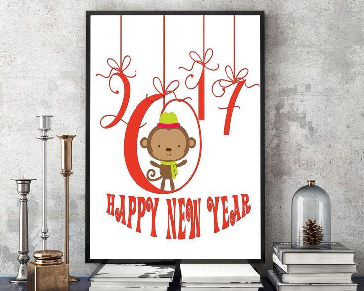 Wall Art Happy New Year Digital Print Happy New Year Poster Art Happy New Year Wall Art Print Happy New Year New Year Art Happy New Year New - Digital Download #homedecorations #wallprints #giftforhim #giftforher