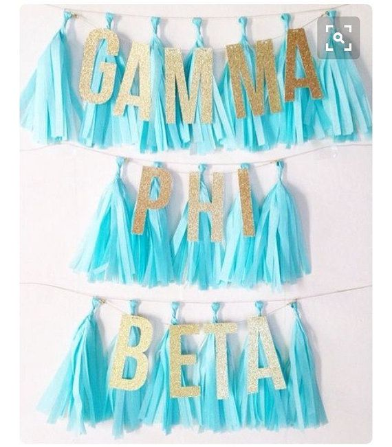 Customizable Sorority Garland by CurlsandTies on Etsy                                                                                                                                                                                 More