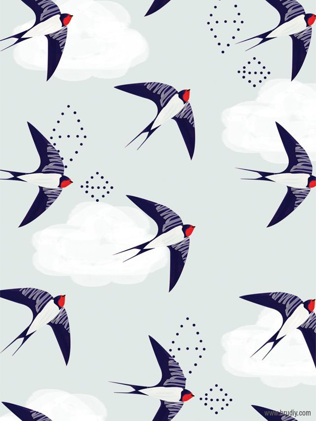 Bird print (via brudiy.com).