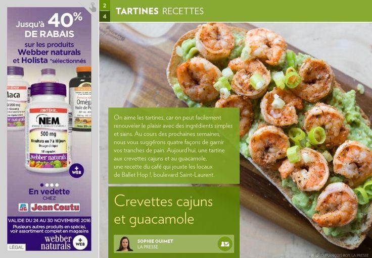 Crevettes cajuns et guacamole - La Presse+