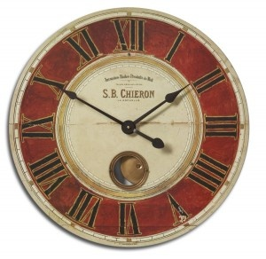 Weathered Red Clock