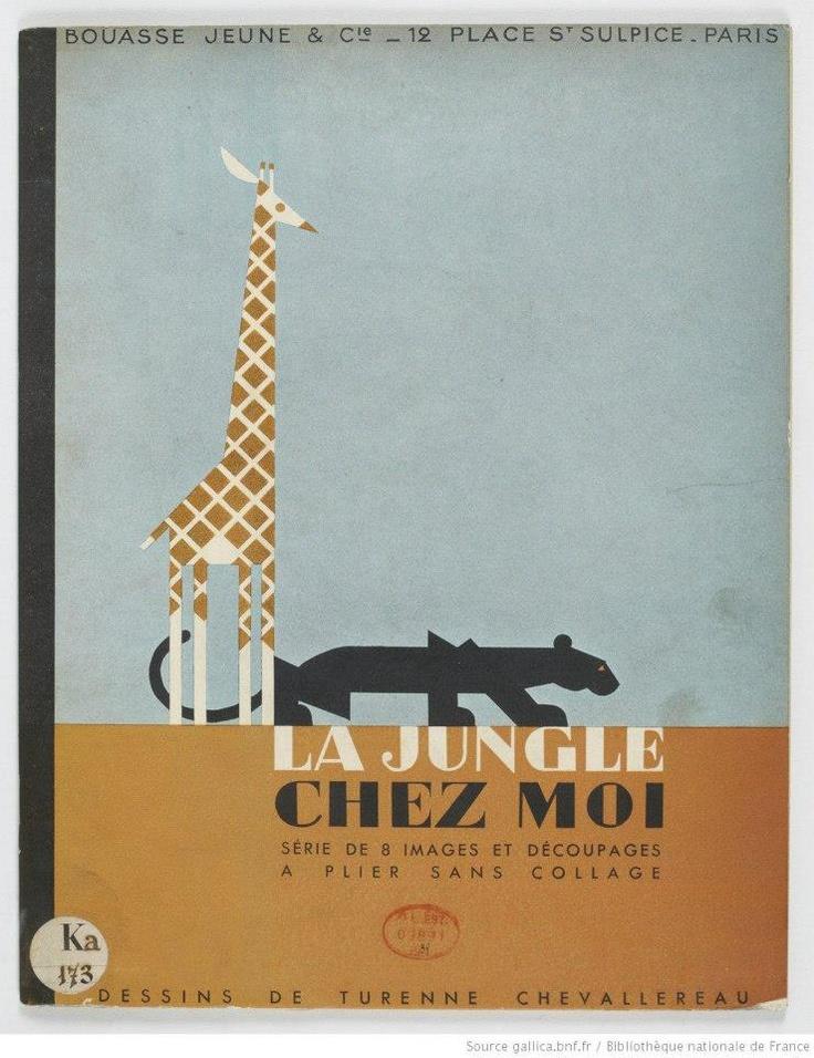 """""""La Jungle chez moi. Série de 8 images et découpages.""""  Turenne Chevallereau    Éditeur : Bouasse Jeune (Paris)  Date d'édition : 1938  Via Gallica:  http://gallica.bnf.fr/ark:/12148/btv1b8556538q"""