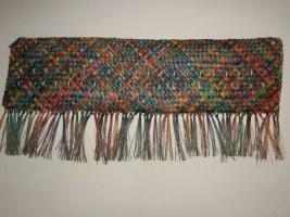 Whaariki (Woven Wall Hanging mat) A Representation of Aotearoa made from Harakeke (NZ Flax) the pattern is - Whakapuareare ( ) ...