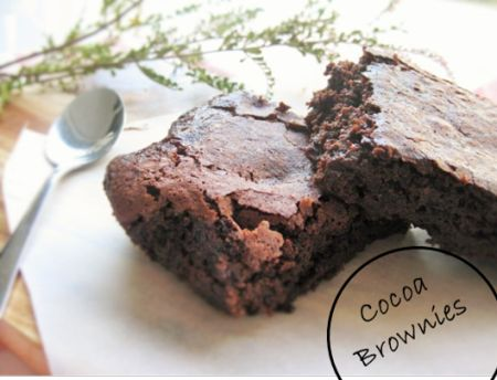 Easy Vegan Cocoa Brownies - In 40 minutes you will have amazing brownies perfect for any celebration!