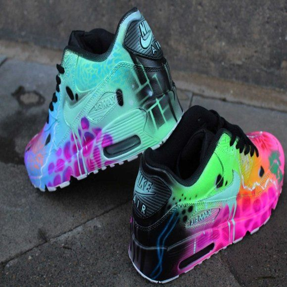 Chaussures Nike Air Max 90 Funky Galaxy Colours Gr Chaussures Nike ...