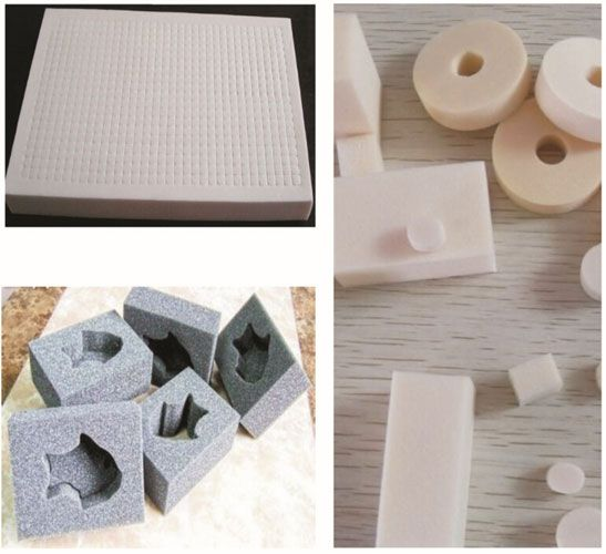 Melamine foam can be easily shaped and processed to sheets or irregular forms by machining means such as cutting, scraping and revolving. Meanwhile, its surface can be made cone shaped and wedge-shaped to meet the requirements of best sound absorption.