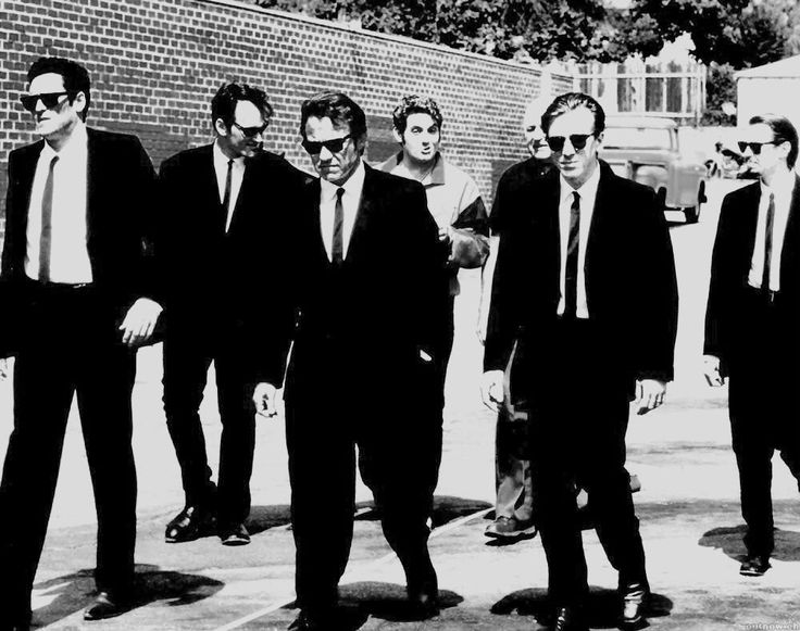 Michael Madsen, Quentin Tarantino, Harvey Keitel, Chris Penn, Lawrence Tierney, Tim Roth and Steve Buscemi  Reservoir Dogs | 1992