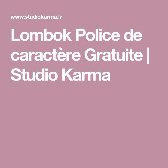 Lombok Police de caractère Gratuite | Studio Karma