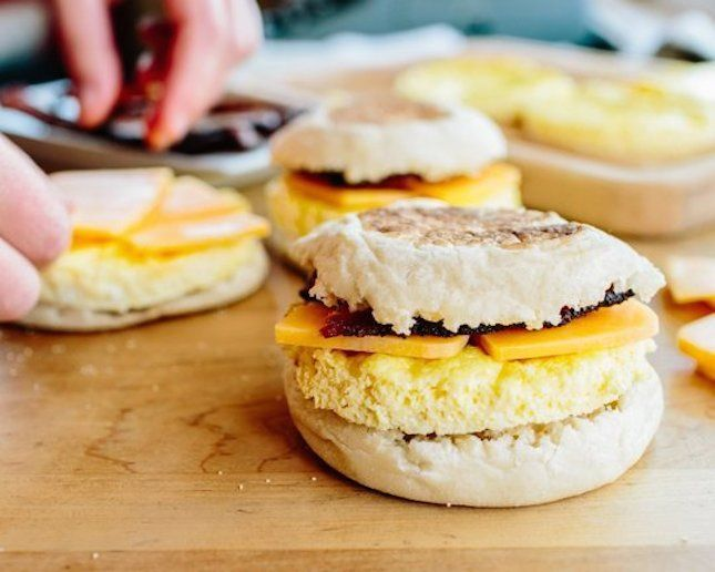 Start your day with a homemade breakfast sandwich.