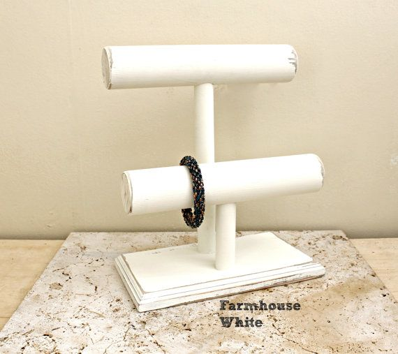 Дерево ювелирные изделия Дисплей, деревянный Дисплей Браслет 2 уровня, подставки для браслетов, держатель для браслетов, выбрать цвет