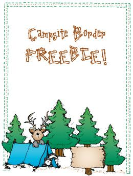 This Campsite Border FREEBIE could be just the thing for ...