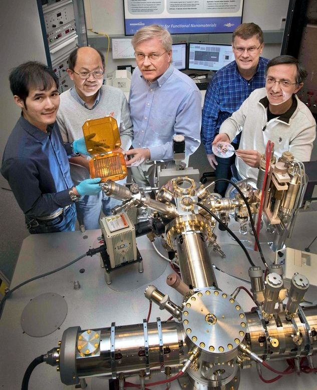 Researchers at Brookhaven National Laboratory have developed a technique that could help incorporate ionic liquids into batteries, supercapacitors, and transistors. They used photoemission electron microscopy (PEEM) to image in real time how ions in an ionic liquid interacted with two gold electrodes. This technique could help identify which specific ionic liquid, out of the thousands of options, would be most suitable for a certain application.