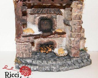 Forno esterno miniatura ideale per presepe e diorami e casa delle bambole