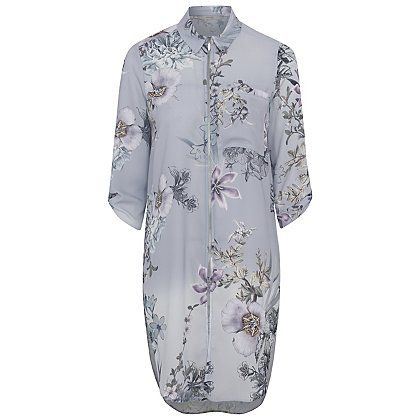 Zip-up Longline Floral Blouse | Women | George at ASDA