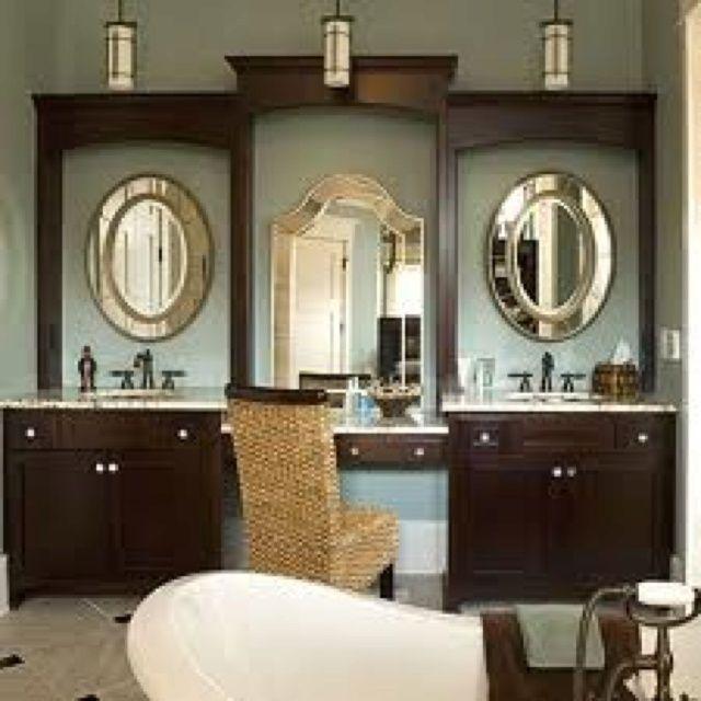 Best Bathroom Images On Pinterest Vanities Vanity Mirrors - Bathroom vanities with sitting area for bathroom decor ideas