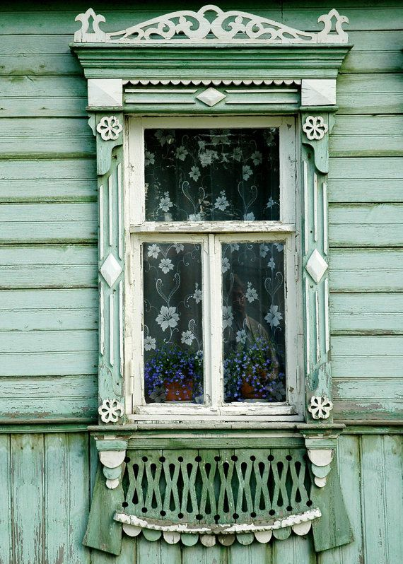 Decorative Russian Window. Woodwork.                                                                                                                                                                                 More