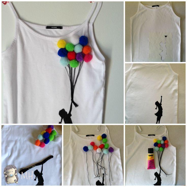 Camiseta de Niña con Globos