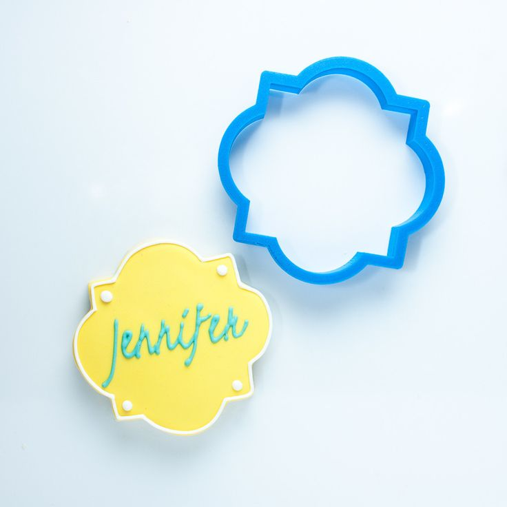 The Jennifer Plaque Cookie Cutter - Frosted.co