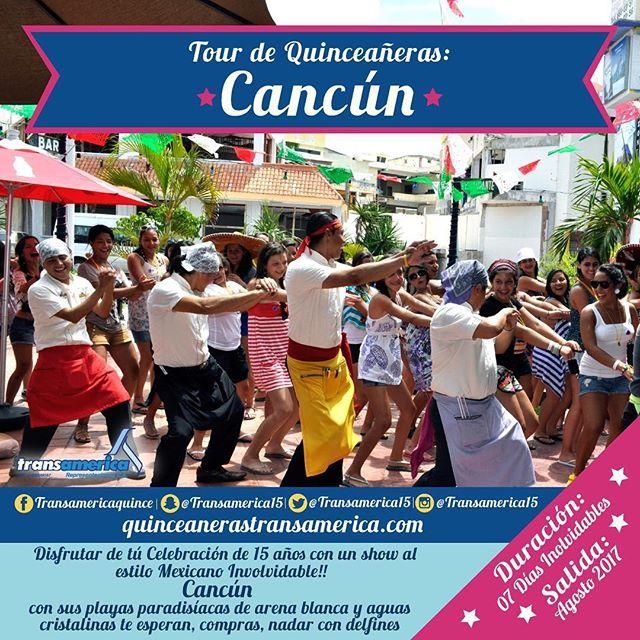 """Tours para Quinceañeras Transamerica salida desde #Venezuela *CANCÚN """" SALIDA: 16 AUG – 22 AUG 2017 DURACIÓN: 7 DÍAS. Te llevamos a disfrutar de los parques + celebraciones Inolvidables. No esperes más y RESERVA tú CUPO♥ Celebra tus 15 años junto a nosotros!!! Más info; 15@transamericaviajes.com QuinceanerasTransamerica.com Teléfonos: 0212 - 284.89.46/ 285.01.48 0414 181 08 10/ 0412 9520433/ 0414 1194069  #amigas #diversion #quince #quinceaños #mis15 #mis15años #tours #Toursdequinceañeras…"""