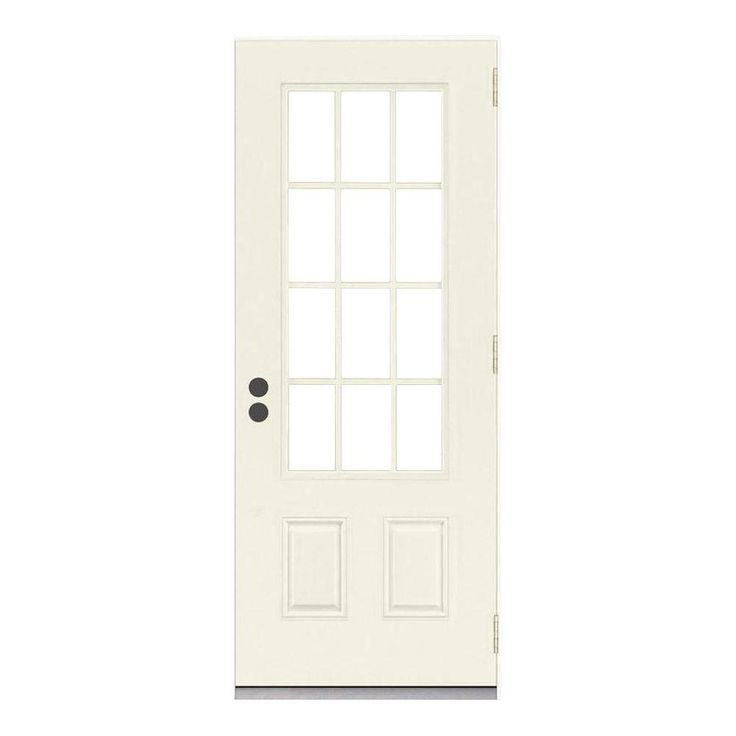 Jeld Wen 32 In X 80 In 12 Lite Primed Steel Prehung Left Hand Inswing Front Door W Brickmould Thdjw189200024 The Home Depot Steel Entry Doors Front Door Jeld Wen