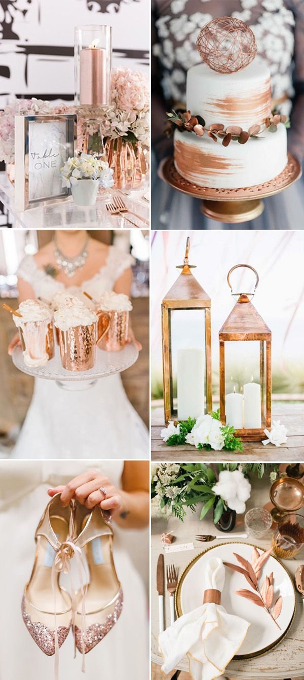 modern bronze and copper wedding ideas for 2017 trends