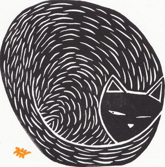 Ik ontmoette Oleg de kat een paar weken geleden. Hij behoort tot een vriend van een vriend, die hem onlangs aangenomen nadat haar eigen geliefde kat overleed. Oleg besteed veel tijd achter een felgekleurde bug rond het woord, die gaf me het idee om dit af te drukken.  Grootte - 23 x 23cm  Werkelijke Afbeeldingsgrootte - 9 x 9cm  Deze print is onderdeel van een beperkte oplage van 50, elkaar iets anders en uniek op zijn eigen manier. Elk is ondertekend, met een adellijke titel en editioned…
