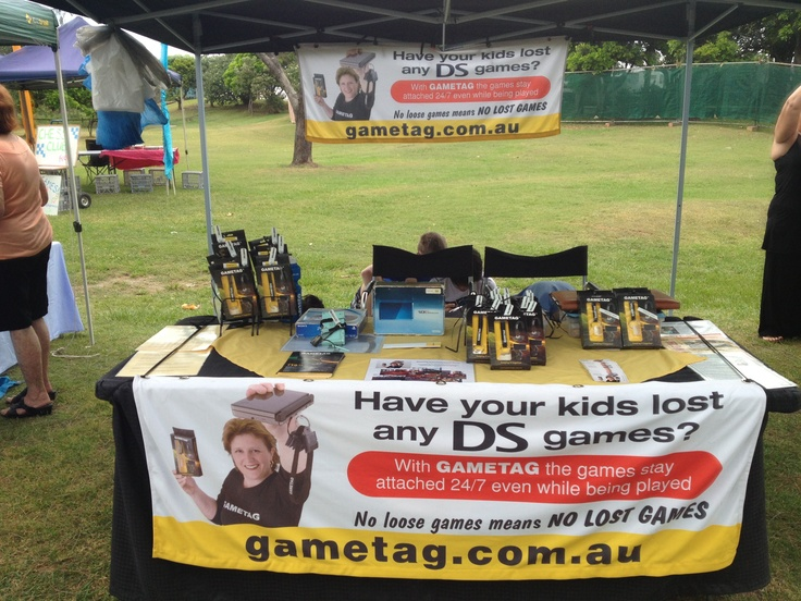 Gametag at the Harbour side market in Coffs Harbour.  January 2013   Gametag DS game case and holder.  http://www.youtube.com/watch?v=Wcy5hUlZuc4