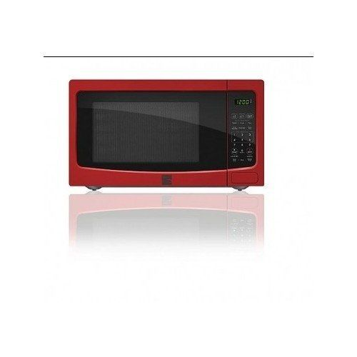 Red Microwave Oven Kenmore 1.1 cu. ft. Countertop Ovens
