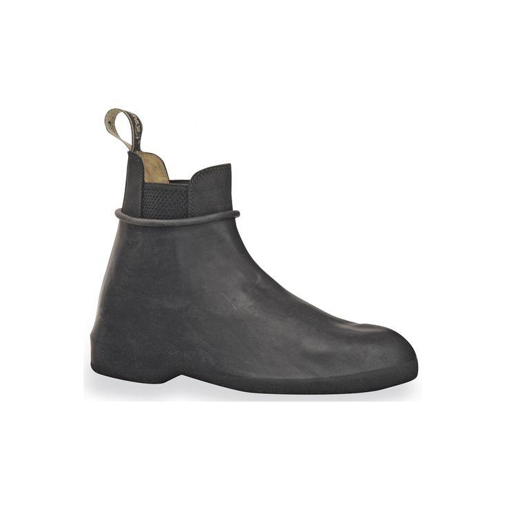 Galoches in gomma con elastico laterale, fondo antiscivolo.  Ottima aderenza alla calzatura e perfetta impermeabilità.