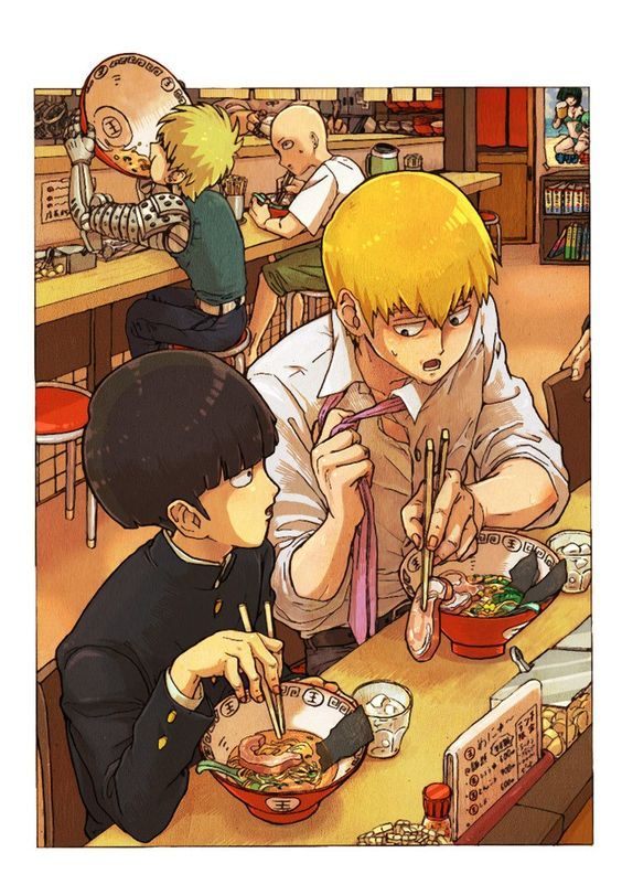One Punch Man X Mob Psycho 100.  #anime #crossover #fanart