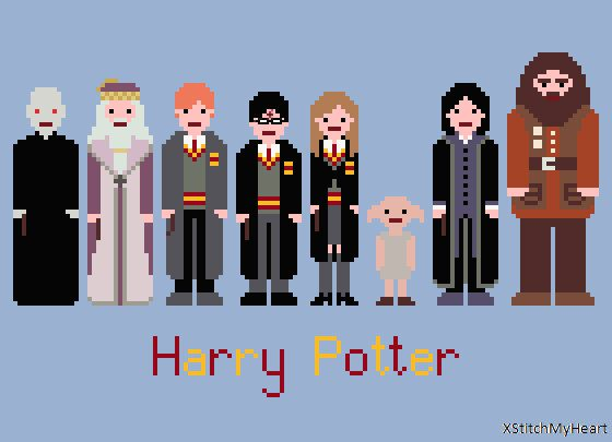 Harry Potter Cross Stitch Pattern (PDF) INSTANT DOWNLOAD