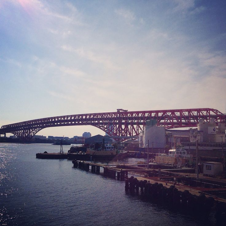 Minatooohashi #osaka #truss bridge