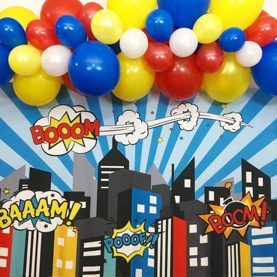 Superhero Avengers Birthday Theme Party Decorations Superhero