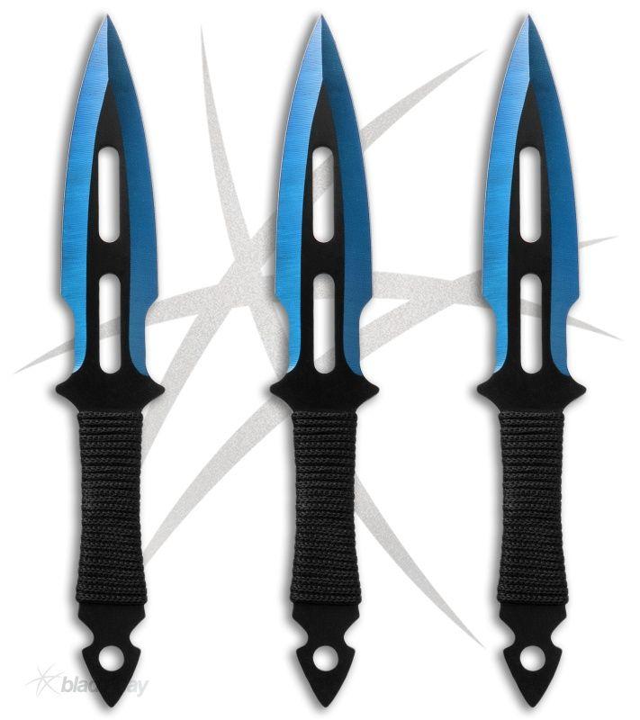 Modern Ninjutsu Blue Throwing Knives (Set of 3)