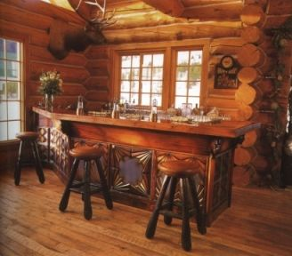 This Would Be A Great Bar For The Recreational Room In My Dream Log  Cabin/lodge Home.