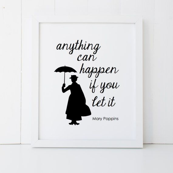 Mary Poppins Quote Disney Home Decor Printable Wall Art