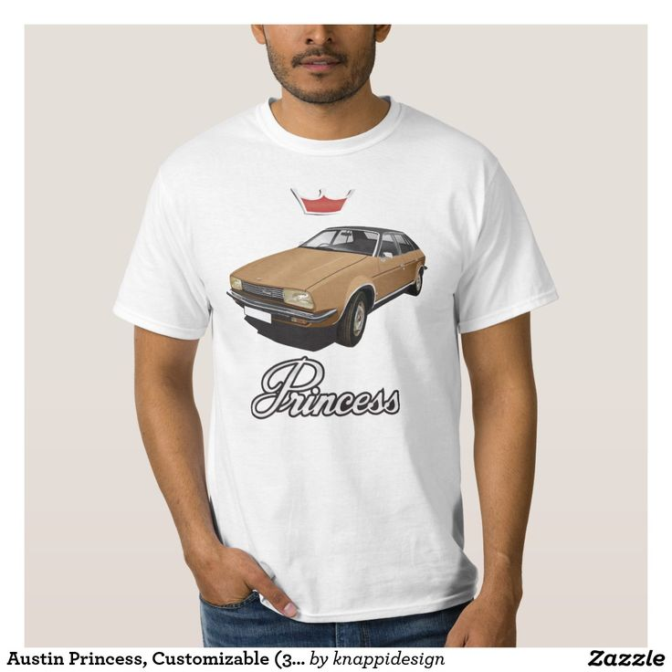 Austin Princess, Customizable (3x img) brown Tee Shirt  #austin #morris #princess #leyland #automobile #classic #tshirt #70s #brown