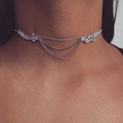 Layla Diamond Choker | Body Kandy Couture #chokers dangle choker charm necklace