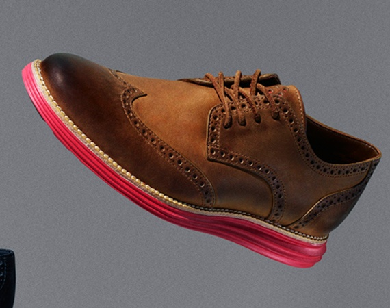 Nike x Cole Haan LunarGrand Leather Wingtip- red and white soles in boots  and brogues