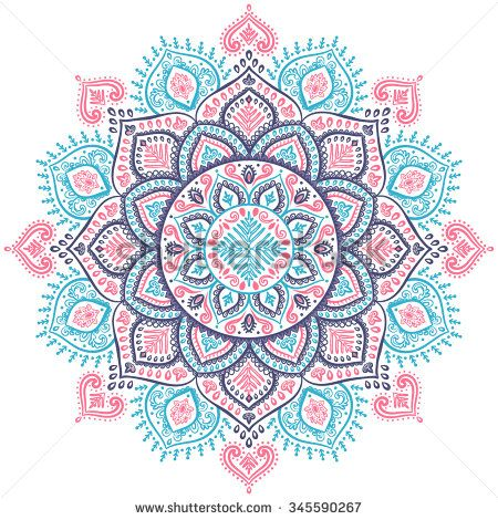 Beautiful vector Christmas snowflake mandala ornament