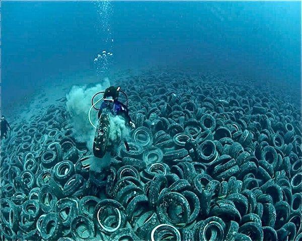 Pacific Trash Island Google Earth