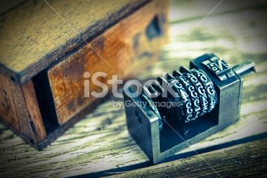 Offset press part Royalty Free Stock Photo