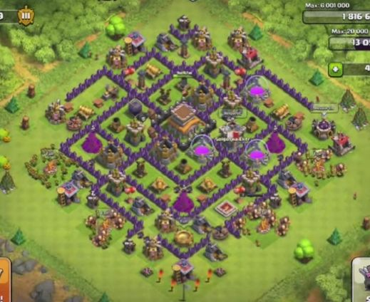Best Clash of Clans Town Hall Level 8 Base Layout | Clash ...