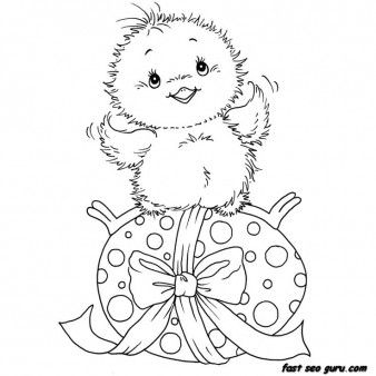 Printable chicken little easter eggs coloring pages - Printable Coloring Pages For Kids