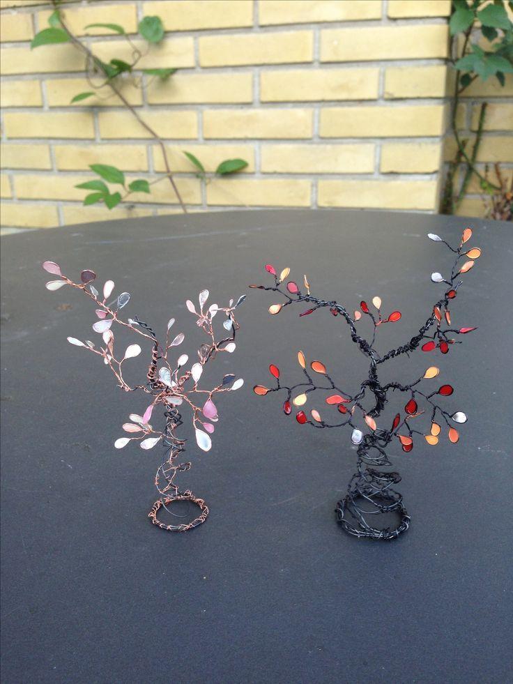 Ich mache die Drahtbäume und Drahtnagellackblumen und ich hätte nie gedacht … – #dar … – DIY Jewelry Crafts Ideen