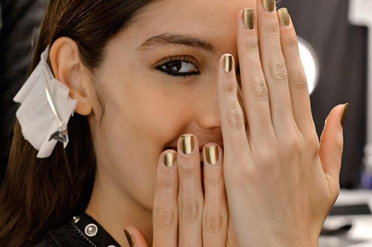 colores esmaltes otono belleza tips gold nails fall date romantic